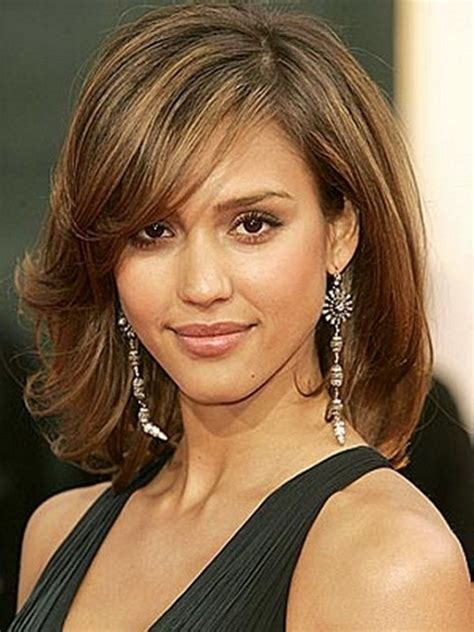 shoulder sweep haircuts women medium length haircuts with side bangs