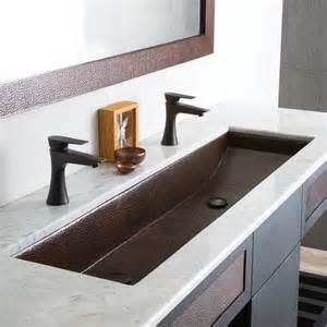 modern rectangular trough bathroom sinks trails