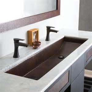 Modern rectangular trough bathroom sinks native trails