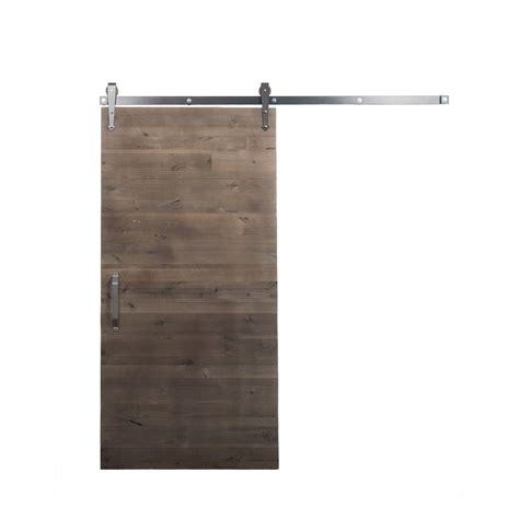Sliding Barn Door Home Depot Rustica Hardware 42 In X 84 In Rustica Reclaimed Home Depot Gray Wood Barn Door With Arrow
