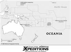 Oceania Outline Map Blank by Map Outlines
