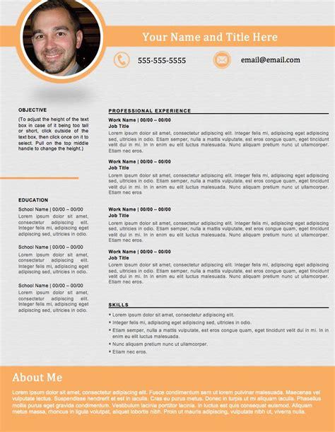 Resume D Gray by Portfolio Resume Gray Orange Resume Sellfy