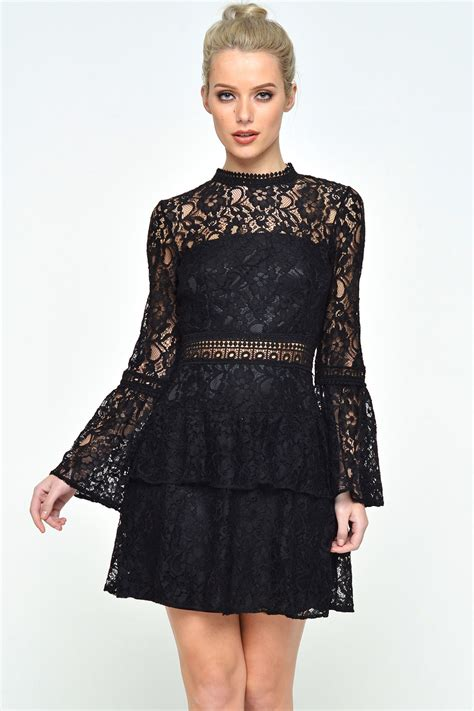 Dress Nelly nelly lace frill dress in black