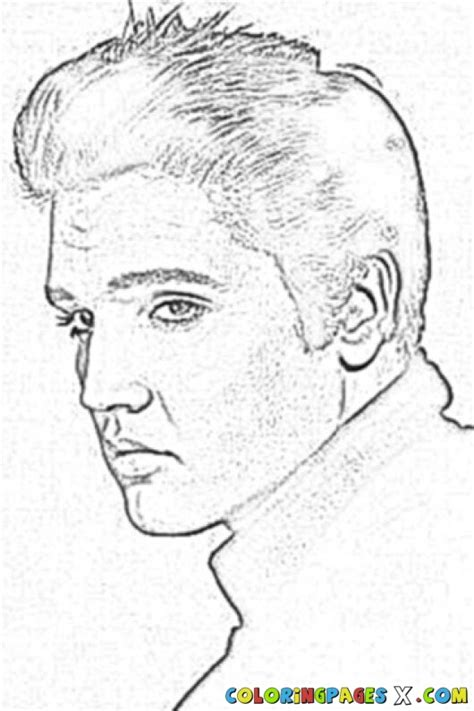 Painted By Elvis Coloring Pages