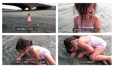 I Wanna Take A Nap Meme - little girl overcomes her fear of water