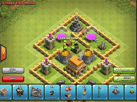 clash of clans town hall 5 defense best coc th5 hybrid base layout town hall 5 base defense www pixshark com images