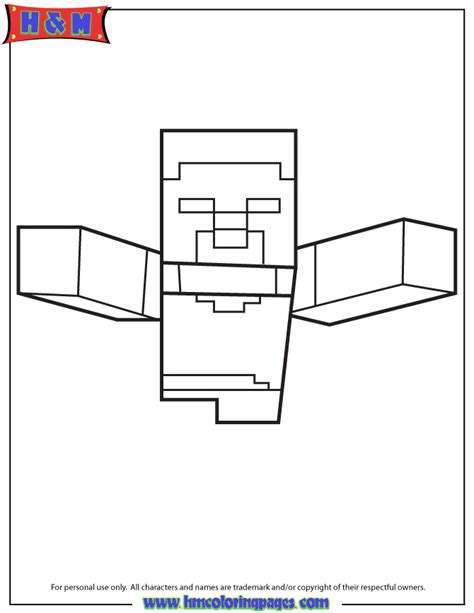 herobrine minecraft coloring pages