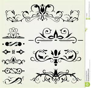 Decorative Corner Border Designs Calligraphic Design Elements Royalty Free Stock Images