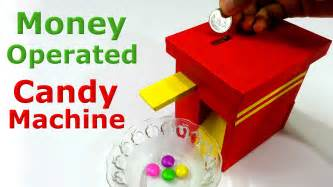 How To Make A Paper Gumball Machine - how to make money operated machine