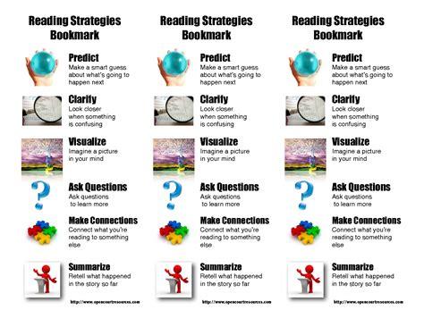 printable bookmarks reading strategies reading comprehension strategies reading strategy