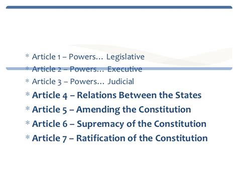Outline Of The 7 Articles Of The Constitution by Article 4 Of The Constitution Www Imgkid The Image Kid Has It