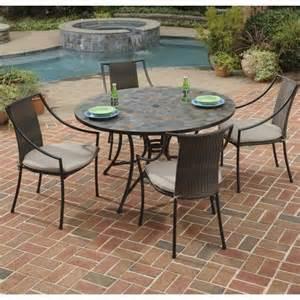 black patio dining set 5 metal patio dining set in black 5601 36802