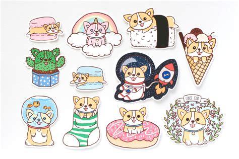 printable stickers for laptop corgi stickers welsh corgi stickers welsh corgi corgi