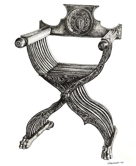 Bone Inlay Chair Italian Savonarola Chair Drawing By Adendorff Design
