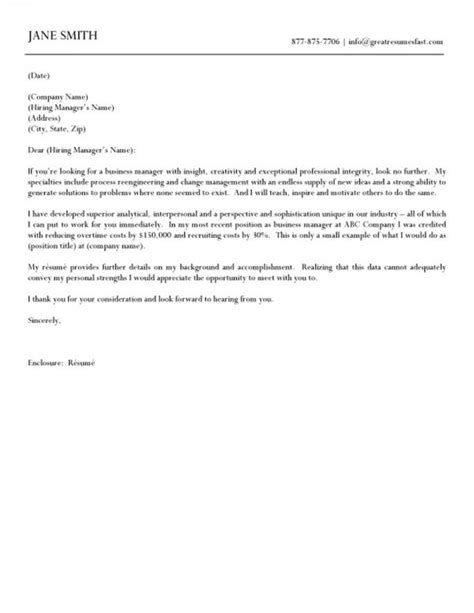 business format cover letter typical cover letter content