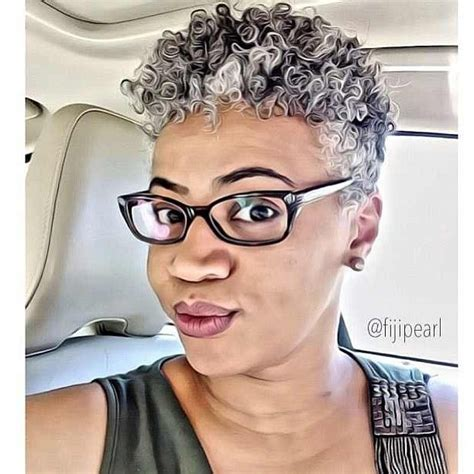 african with salt and pepper hair how can i get platinum highlights beautiful short sweet pinterest