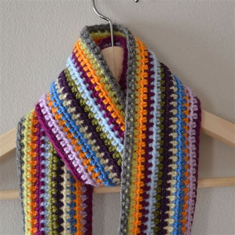 color pattern crochet crochet in color scrapadelic scarf