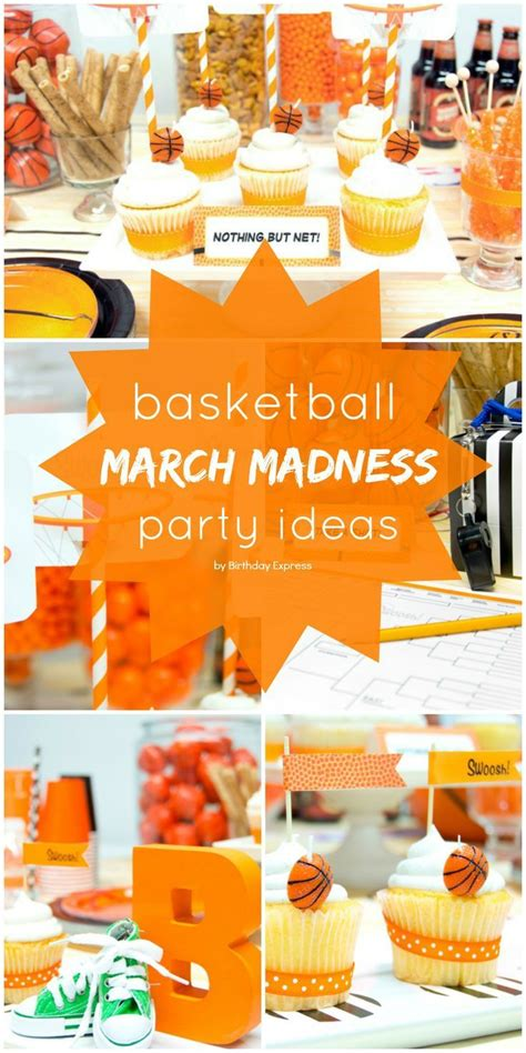 Party Themes In March | slam dunk march madness basketball birthday party ideas