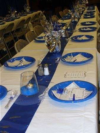 blue  silver dinner party party ideas photo