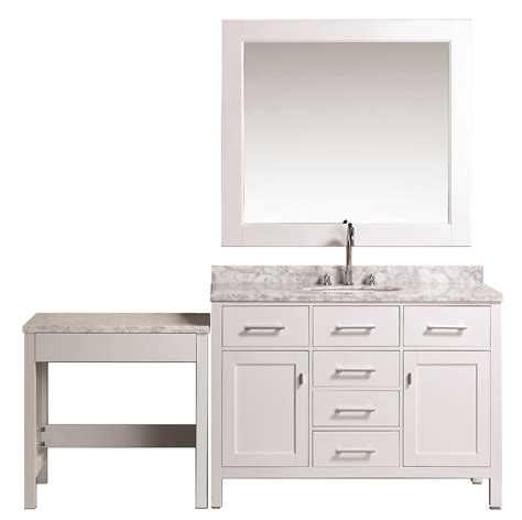home design outlet center bathroom vanities london 48 quot single sink vanity set in white finish with
