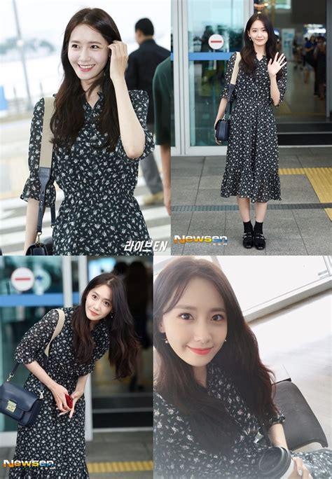 Dijamin Snsd tebar pesona di bandara cantiknya yoona pakai dress ini dijamin bikin pingsan kabar berita
