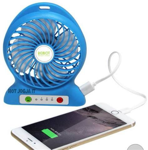 Kipas Angin Usb Kipas Angin Power Bank jual mini usb fan kipas angin usb powerbank produk by robot okesiip