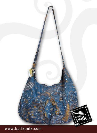 Tas Slempang Bunga tas batik slempang motif batik bunga unik tas wanita