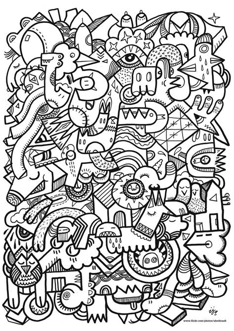 crazy patterns coloring pages lets doodle coloring pages coloring home