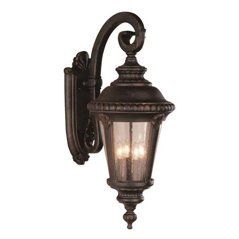 Bel Air Outdoor Lighting Bel Air Lighting Stewart 4 Light Outdoor Rust Incandescent Wall Light 5045 Rt The Home Depot