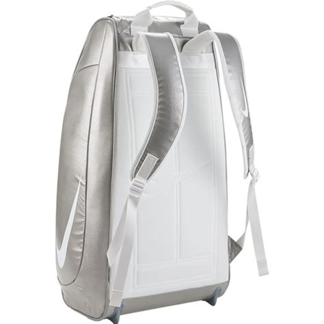 nike court tech  wimbledon tennis bag silverwhitewhite