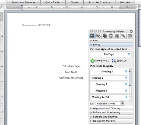 format styles  typing papers   style reference point software