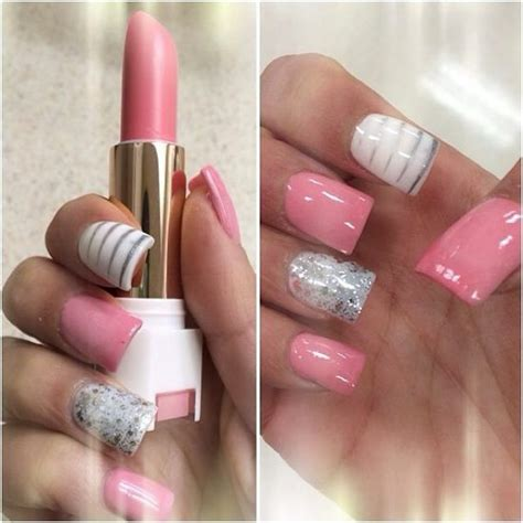 imagenes de uñas pintadas color rosa u 241 as de acr 237 lico rosa u 209 as s 250 per nice pinterest