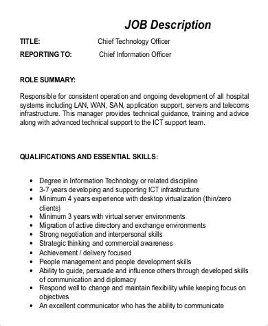 9 Cto Job Description Sles Sle Templates Cto Description Template