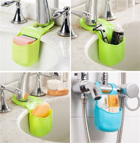kitchen sink sponge holder bathroom hanging strainer