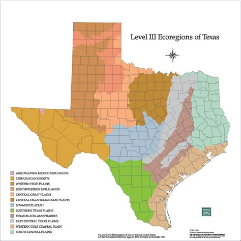 texas ecoregion map tpwd maps