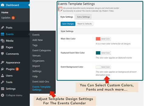 The Events Calendar Shortcode And Templates Wordpress Org Template Builder Plugin