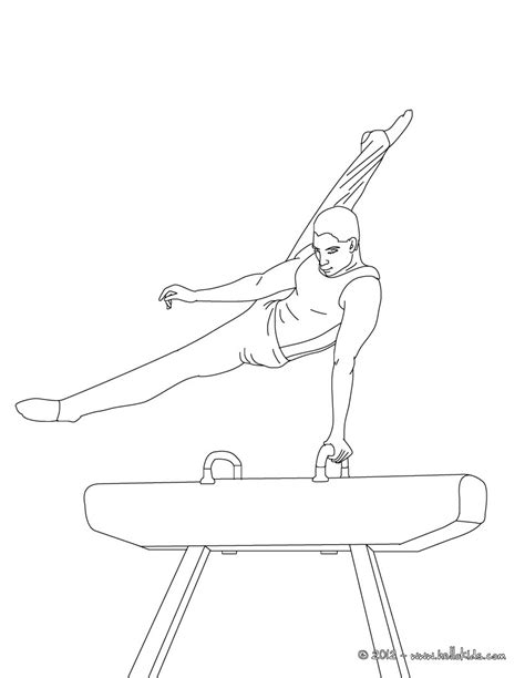 gymnastics bars coloring pages pommel horse artistic gymnastics coloring pages