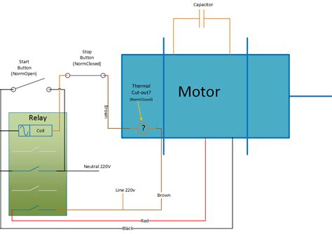 permanent split capacitor motor wiring diagram permanent