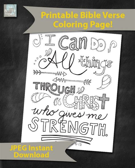 Coloring Page For Philippians 4 13 by Bible Verse Coloring Page Philippians 4 13 By