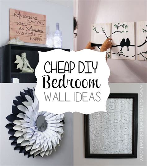 cheap bedroom wall art cheap classy diy bedroom wall ideas pinterest