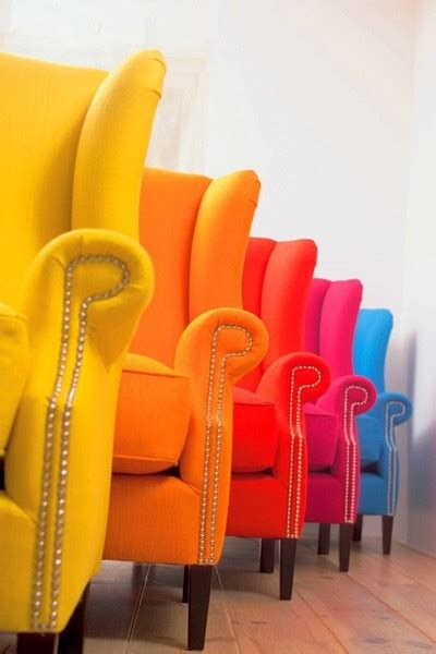 colorful armchair colorful photography