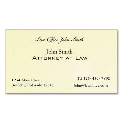Attorney Business Card Template by Attorney At Office Business Card Template Lawyer