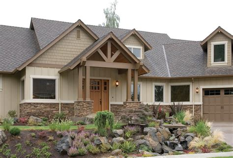 craftsman style house plans with angled garage cottage