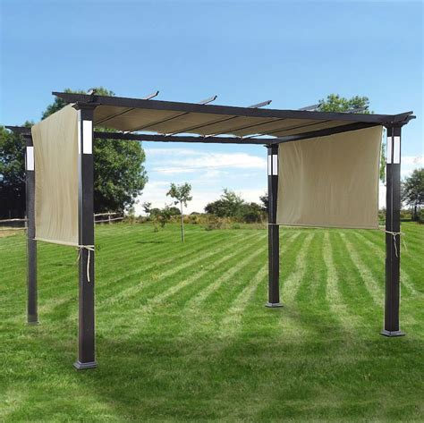 Shade Covers For Patio Replacement Canopy For Led Lighted Pergola Garden Winds