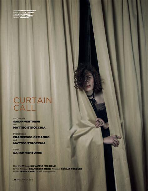curtain call magazine jessica peel in curtain call for design scene magazine