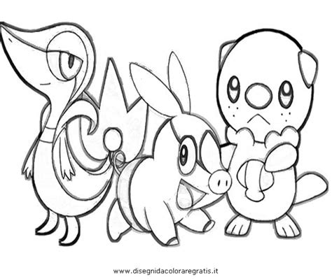 pokemon coloring pages of snivy free coloring pages of pokemon tepig and snivy