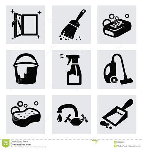 toilet bodem schoonmaken vector zwarte schoonmakende die pictogrammen op grijs