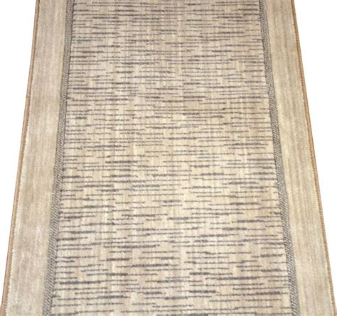Modern Rug Runners For Hallways Wellington Thistle Beige Wool Or Stair Carpet Runner Rug 27 Quot W Modern And Stair