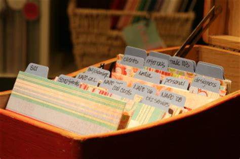organizing business organizing business cards