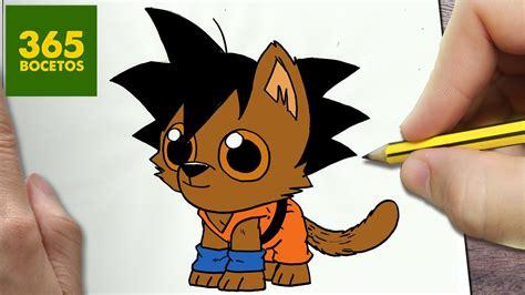 imagenes de goku kawai como dibujar goku perro kawaii paso a paso dibujos